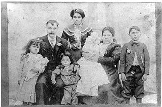 Sephardi Jews - Sephardi family from Misiones Province, Argentina, circa 1900.