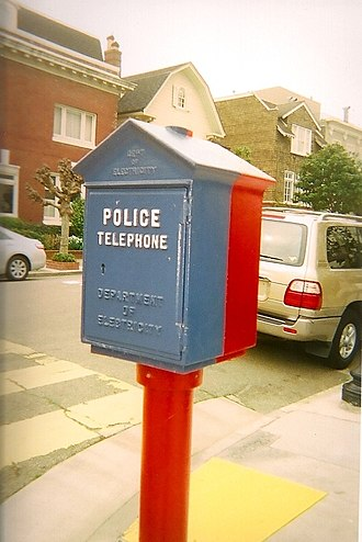 Fire alarm call box - Police telephone and fire alarm, San Francisco