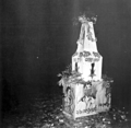 Shaheed Minar at Karjon Hall 21 Feb 1953.png