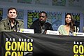 Shane Black, Sterling K. Brown & Olivia Munn (42878760444).jpg