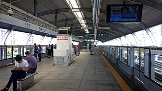 Mumianwan station - Image: Shenzhen Metro Line 3 Mumianwan Sta Platform