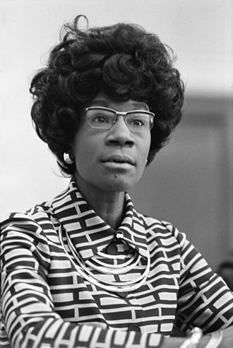 Shirley Chisholm was the first major-party African American candidate to run nationwide primary campaigns. Shirley Chisholm.jpg