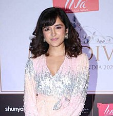 Shirley Setia snapped at Miss Diva 2020 Mumbai Preliminary Event (cropped).jpg