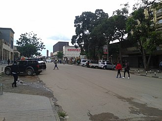 Kitwe - Shopping area in the city centre. Independence Avenue — between Obote Avenue and Matuka Avenue.