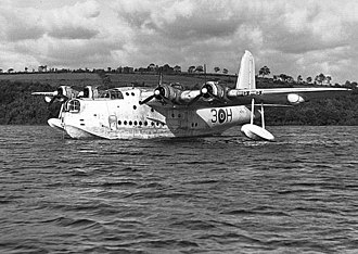 RAF Gatow - A Short Sunderland similar to those used during the Berlin Airlift