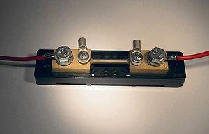 Shunt (electrical) - 50 A shunt resistor