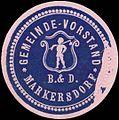 Siegelmarke Gemeinde-Vorstand Markersdorf W0321159.jpg