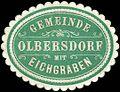 Siegelmarke Gemeinde Olbersdorf mit Eichgraben W0215094.jpg