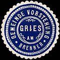 Siegelmarke Gemeinde Vorstehung Gries am Brenner W0245555.jpg