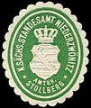 Siegelmarke Königlich Sächsisches Standesamt Niederzwönitz - Amtshauptmannschaft Stollberg W0252146.jpg