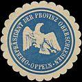Siegelmarke Oberpräsident der Provinz Oberschlesien Oppeln W0365078.jpg