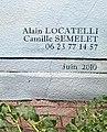 Signature des artistes de la fresque d'Arbent (Ain, France).JPG