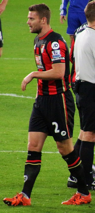 Simon Francis (footballer) - Francis playing for AFC Bournemouth in 2015