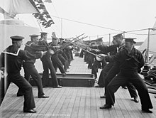 Singlestick practice on the U.S.S. New York.jpg