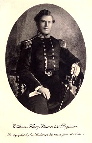 William Henry Flower - Photographed by his mother after his return from Crimea