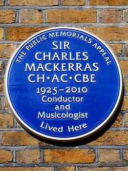 Sir charles mackerras ch.ac.cbe 1925 2010 conductor and musicologist lived here