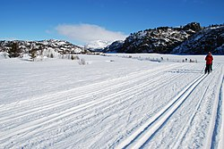 Ski-tracks in Sirdal