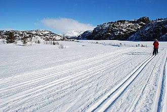 Sirdal - Ski-tracks in Sirdal