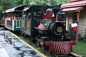 Six Flags - Original Six Flags train still in operation (2007)