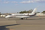 Skyline Aviation (ZK-RXD) Cessna 680 Citation Sovereign at Wagga Wagga Airport.jpg
