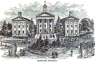 Smithville Seminary - Smithville Seminary in the 1800s