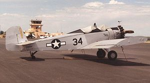 Ayres Thrush - Early Snow S-2A of 1959 with open cockpit and roll-over protection bar at Santa Fe, New Mexico, June 1997, in pseudo-USAAF markings