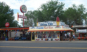 Seligman, Arizona - Delgadillo's Snow Cap Drive-In, founded by Juan Delgadillo on Route 66 in 1953.