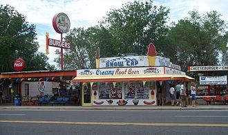 Seligman, Arizona - Delgadillo's Snow Cap Drive-In, founded by Juan Delgadillo on Route 66 in 1953.