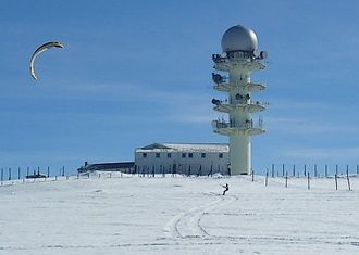 Pierre-sur-Haute military radio station - The radio station, photographed in February 2009