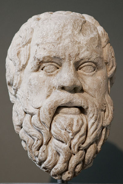 Socrates preferred to face execution rather than betray his moral principles. Socrates BM GR1973.03-27.16.jpg