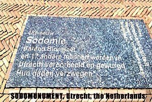 Utrecht sodomy trials - Image: Sodomonument