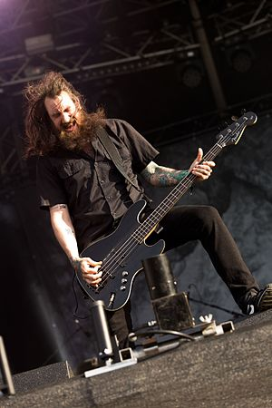 Soilwork - Bassist Markus Wibom at Rockharz Open Air 2016