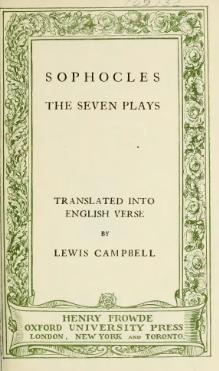 Sophocles - Seven Plays, 1900.djvu