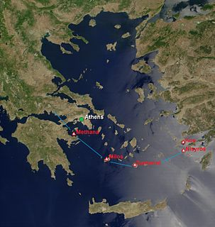 South Aegean Volcanic Arc Chain of volcanic islands in the South Aegean Sea