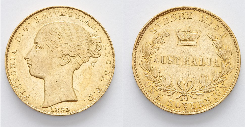 Sovereign, 1855, Sydney Mint, State Library of New South Wales, SAFE DNC 1