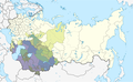 Map showing the distribution of Muslims within the Soviet Union in 1979