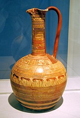 Late geometric attic Oinochoe