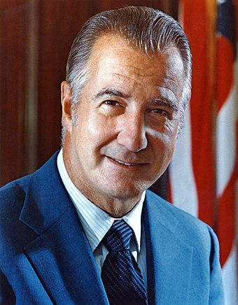 Spiro Agnew, former United States Vice President, is the highest-ranking political leader from Maryland since the founding of the United States. Spiro Agnew.jpg