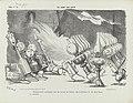 Spotprent over de opkomst van de petroleumlamp, 1863 De geest der eeuw (titel op object), RP-P-OB-89.453.jpg