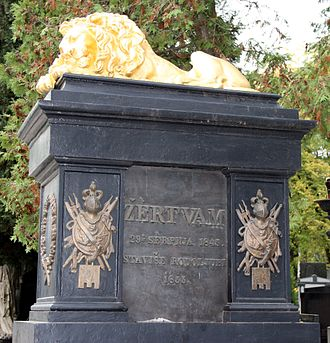 People's Party (Kingdom of Croatia) - In 1855, a monument was erected for the July victims in Zagreb.