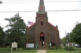 St. Stephen's Episcopal Church (Beverly, New Jersey) - Image: St. Stephen's Beverly Exterior