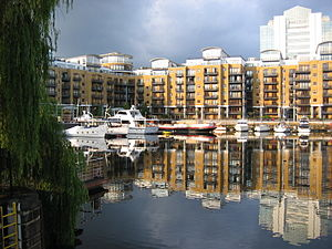 St Katharine Docks - Boats moored in St Katharine Docks