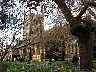 Reading Minster - Image: St Mary's Reading, in the spring geograph.org.uk 3399