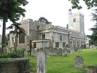 Cheshunt town in Hertfordshire, England