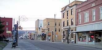 St. Marys, West Virginia - 2nd Street in the central business district of St. Marys in 2006