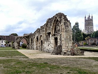 St Oswald's Priory, Gloucester - The north side of the Priory.