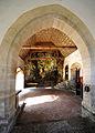St Wendel zum Stein, eine spätgotische Kapelle wunderschön in die Felslandschaft an der Jagst integriert. 01.jpg