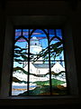 Stained glass window in St Agnes' Church.jpg