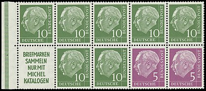 Stamps of Germany (BRD) 1955 Heftchenblatt 4.jpg