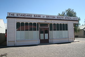 Standard Bank (historic) - Standard Bank of British South Africa in the museum town at the Kimberley Big Hole